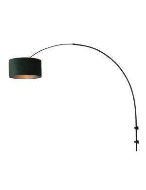 Applique arc avec velours noir et vert-8139ZW